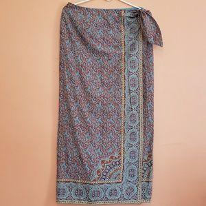 Ralph Lauren Bohemian Wrap Skirt